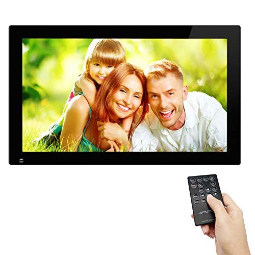 Large Frames Digital Picture - SSA 21.5 Inch Large Digital Picture Frame with Hu Motion Sensor LCD Advertising Player with 1080P High Resolution LCD AV HDMI Input VESA with Wall Mount (Include 32GB USB Stick)