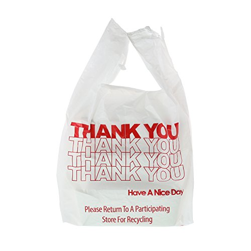 Royal Thank You Plastic Bag, 1/6, Heavy Weight, 11.5 Inch x 6.5 Inch x 22 Inch, 20 Mic, Package of 600