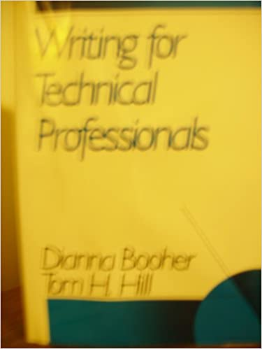 Writing for Technical Professionals