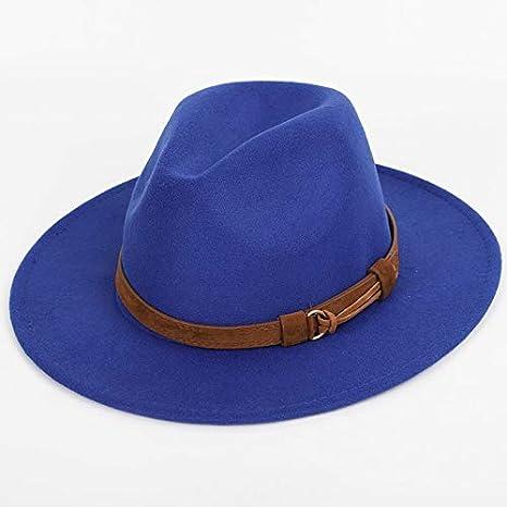 e662d0e1a Amazon.com: FelixStore Fashion Belt Solid Color Fedoras Big Size ...