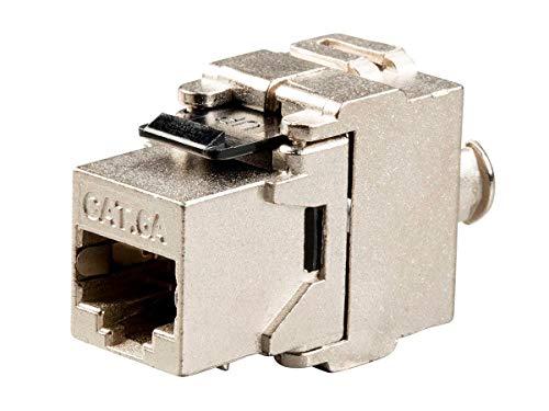 Monoprice Cat6A RJ-45 Keystone Black | FTP, Toolless, 180-Degree, Die Cast, Shielded - Entegrade Series