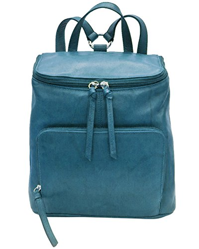 Jeans Lining 6502 Leather Backpack ili Blue with RFID Handbag 0AxCqw