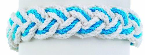 World End Imports Turquoise Nautical Striped Sailor Bracelet ()