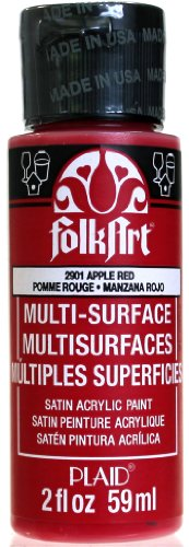 Price comparison product image FolkArt Multi-Surface Paint in Assorted Colors (2 Ounce), 2901 Apple Red