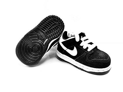 NIKE Toddler's Little Dunk Low (TD) 905092-020 Black/White US (4c) (Nike Toddler Dunk)