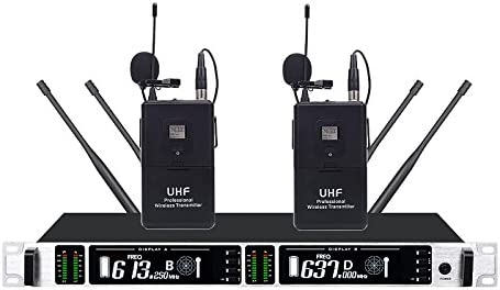 BOLY 4300 - Sistema de micrófono inalámbrico de lavalier UHF ...