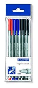 Staedtler 334-S PB6 - Rotulador de punta fina multicolor (trazo fino) (Pack de 6)