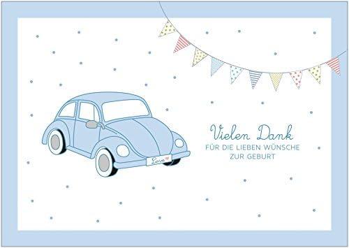 Muchas Gracias para la Querido deseos nacimiento Retro dankeskarte ...
