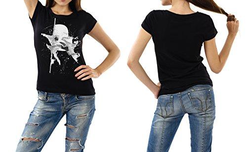 Huerdenlauf_I schwarzes modernes Damen / Frauen T-Shirt mit stylischen Aufdruck