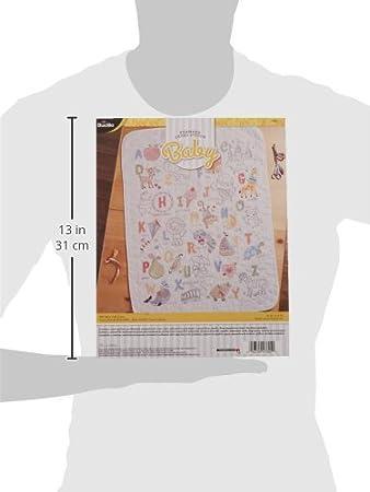 ABCs Bucilla 47805 Stamped Cross Stitch Crib Cover