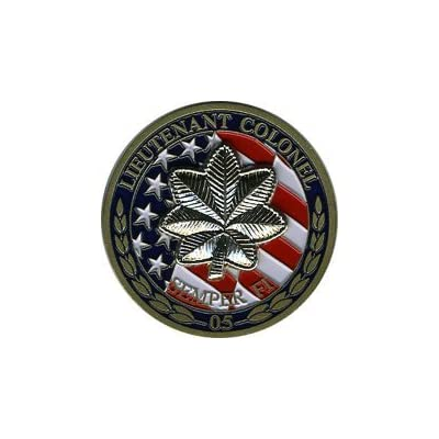 Military Productions US Marine Corps Lieutenant Colonel Challenge Coin: Toys & Games