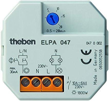Theben 0470002 ELPA 047 - Temporizador para luz de la escalera ...
