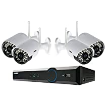LOREX LH03041TC4W 4-Channel Stratus Cloud Connect 1TB DVR with 4 Real-time Wireless Cameras, Black