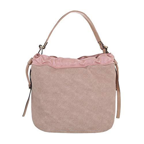 para al Sintético de hombro Rosa mujer Design Bolso Ital EqwHYw1