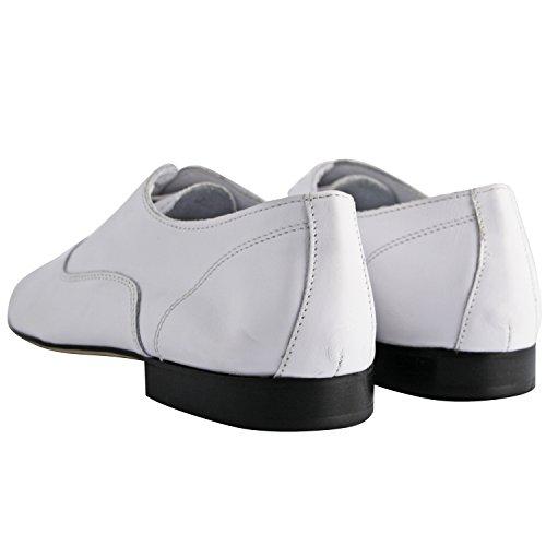 Exclusif Paris - Zapatos de cordones de Otra Piel para hombre blanco blanco