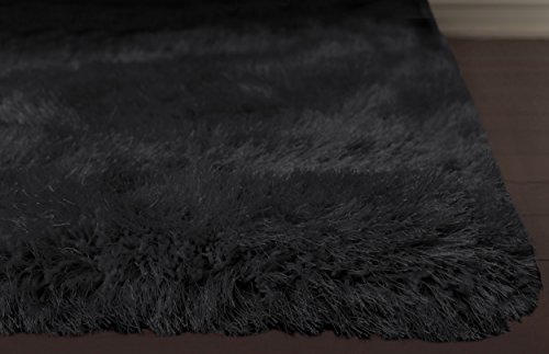 - Home Must Haves Super Soft Shag Shaggy Modern Contemporary Area Living Room Bedroom Decorator Floor Rug and Carpets Hand Carved (8x10 Feet, Black)