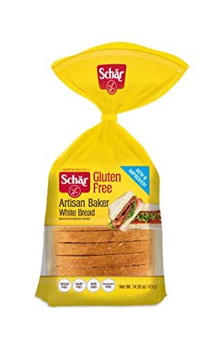 Grain White Bread - Schär Gluten Free Artisan Baker White Bread, 14.1 oz., 6-Pack