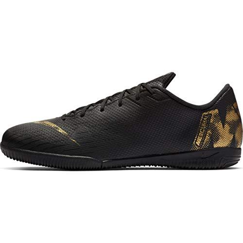 Nike VaporX 12 Academy IC Indoor Shoe (8.5 D US, Black/Metallic Vivid Gold) (Mens Indoor Soccer Shoes Gold)