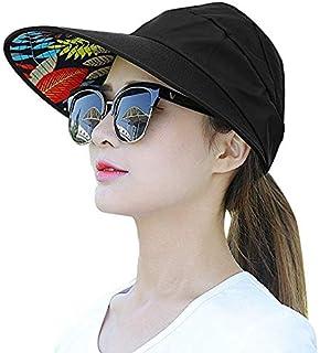 ELEPHANTBOAT Wide Brim Sun Hats Summer Beach Visor Cap Anti-UV Sunhat for  Women 7fffddc13952