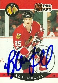 Autograph Warehouse 66653 Bob Mcgill Autographed Hockey C...
