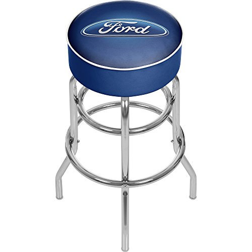 Trademark Gameroom Ford Padded Swivel bar Stool - Ford Oval (Ovale Shop)