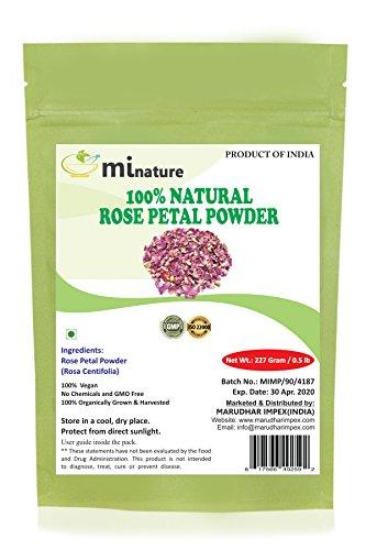 Rose Petal Powder - Hair & Skincare-Pure Natural Rejuvenating Moisturising Antiageing Cooling Face Mask Skin Lightener Brightener Even Tone Complexion - 227g / 1/2 lbs / 8 oz ()
