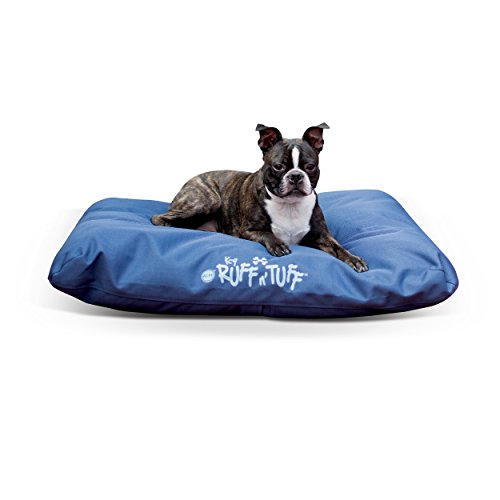 K&H Pet Products K-9 Ruff n' Tuff Chew Resistant Pet Bed Medium Navy Blue 27