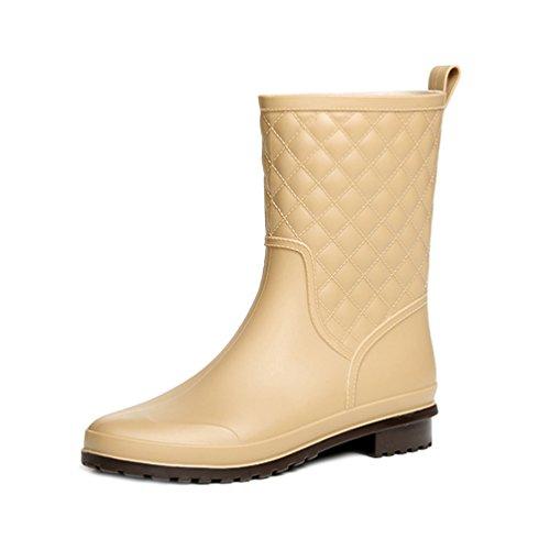 En Caoutchouc Chaussures Imperméables Bottes Abricot Bottines De d5XwZRq