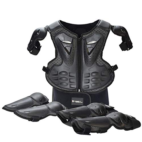 Hockey Body Armor - LLC-POWER Kid Body Armor Jacket, Children Chest Back Spine Protector Vest, Protective Gear Chest Protection Clothing, Hockey Knight Gear