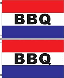 Símbolo de Banner de bandera de poliéster para barbacoa (Pack de 2)