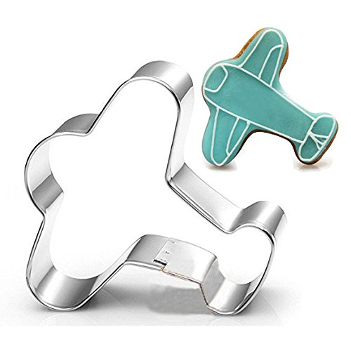 WOTOY Airplane Biscuit Cookie Cutter - Stainless Steel