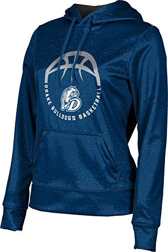 ProSphere Drake University Basketball Women's Pullover Hoodie, School Spirit Sweatshirt (Heather) 10034 Blue and Gray
