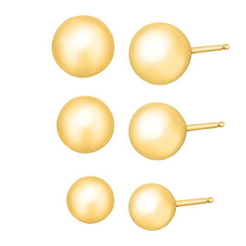 Just Gold 4-6 mm Ball Stud Ear