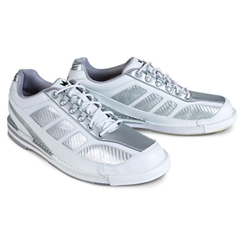 Brunswick Men's Phantom Bowling Shoes, White/Silver, Size 10.5 by Brunswick