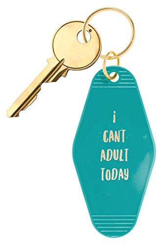 "Inspired Key Fob (Bops Retro Motel/Hotel Style Keychain ""Beach Please"" Vintage Inspired Keychain + Inspirational Quote)"