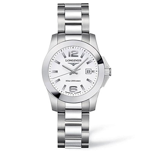 Longines Reloj Análogo clásico para Mujer de Cuarzo con Correa en Acero Inoxidable L32774166: Amazon.es: Relojes