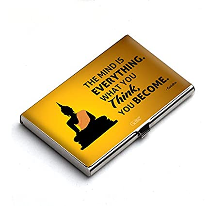 Quotesutra the mind is everything buddha quote business card holder quotesutra the mind is everything buddha quote business card holder yellow tmie ch reheart Images