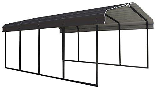 (Arrow 12 x 20 x 7-Foot Heavy Duty Galvanized Steel Metal Multi-Use Shelter, Shade, Carport, 12' x 20' x 7' )
