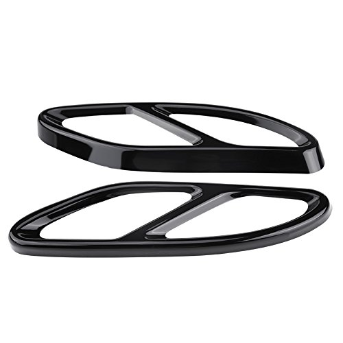 Exhaust Tip Cover - 1Pair Car Exhaust Tail Muffler Tip Pipe Cover Trims for Mercedes Benz C Class w205 Coupe GLC B Class w246 E class w212 w213 C207 Coupe A class w176 (Black)