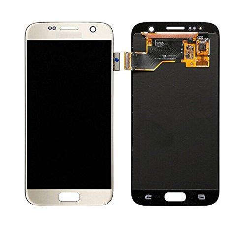 LSHtech LCD Display Touch Screen Digitizer Assembly for Samsung Galaxy S7 SM-G930 with free tools (Gold) by Generic