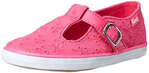Keds TS Sneaker (Toddler/Little Kid),Pink Eyelet,4.5 M US (Keds Canvas Mary Janes)