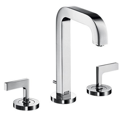 Axor 39135001 Citterio Widespread Faucet with Lever Handles, Chrome