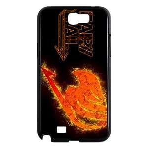 samsung n2 7100 phone case Black Fairy Tail XGE9473691