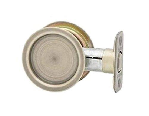 5 Antique Brass Latch - Kwikset 334-5 Round Passage Pocket Door Lock Antique Brass Finish
