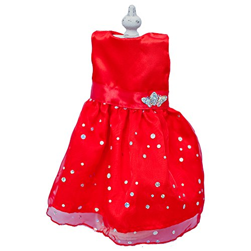 Doll Dress for 18 Inch Dolls, Dazzling Red Gown with Butterlyfly by Chloe'