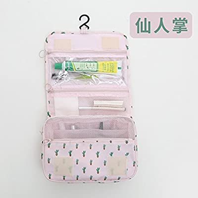 LULANMer voyage toilette trousse d'admission obligatoire étanche portable hommes et femmes pochette trousse à maquillage trousse de voyage baignoire ,24*18,5 9,5 cm*, Cactus