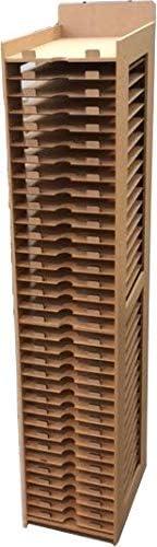 Wood Addicts Meuble Rangement Pour Papiers De Scrapbooking Scrap Papeterie Sechoir A Papiers 30x30 Ou 45x30 Pour Loisirs Creatifs Papiers 30x45 Amazon Fr Cuisine Maison