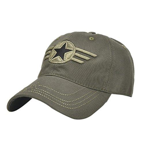 HTHJSCO Classic Cotton Dad Hat Adjustable Plain Cap, Unisex Unstructured Cotton Cap Adjustable Plain Hat Dad Cap (Army Green A) -