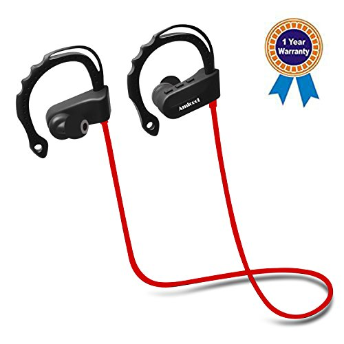 Amicool Wireless headset Sports Stereo Earbuds with Mic Noise Cancelling,IPX7 Waterproof, HD Stereo Sweatproof Earphones, for Running Workout