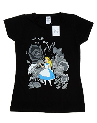Disney women 39 s alice in wonderland flowers t shirt large for Oversized disney t shirts